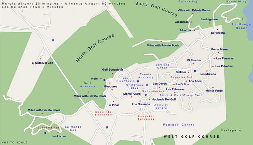 La Manga Club Map